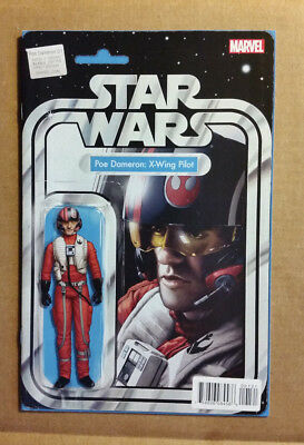 Star Wars Poe Dameron #1 1st Print X-Wing Pilot Action Figure Variant 9.4 - 9.6