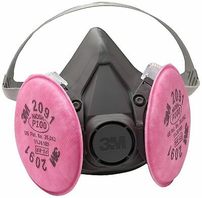 3M Half Facepiece Reusable Respirator Assembly 6391/07003(AAD), P100 Respiratory