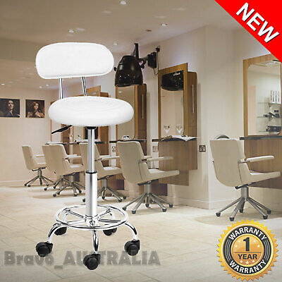 Salon Stool Swivel Chair Backrest Massage Tattoo Barber Beauty Hairdressing Seat