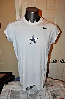 NIKE-PRO Dri-Fit NFL Dallas Cowboys Star Compression Shirt L-3X Short Sleeve new