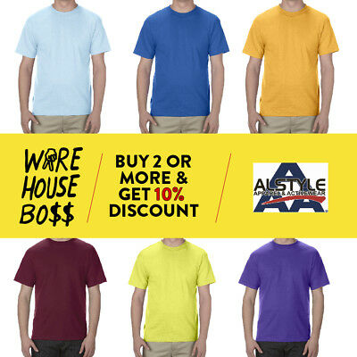 24Pack Aaa 1301 Alstyle Apparel Mens Plain Short Sleeve T Shirt Cotton Shirts