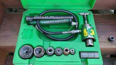 Greenlee 7646 Hydraulic Knockout Punch Driver Set Works Fine