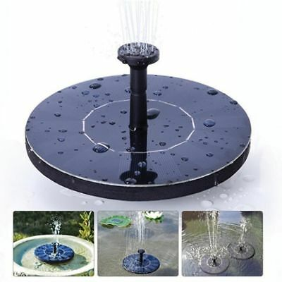 Solar Fountain Submersible Water Pump Solar Powered Panel Home Garden Pool Pond
