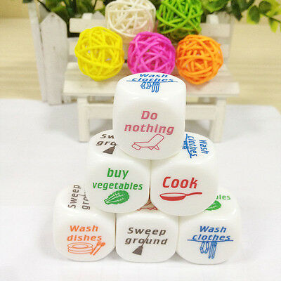 1x Dice Game Toy For Adult Love Couple Housework Duties Sex Fun Novelty Gift Ej