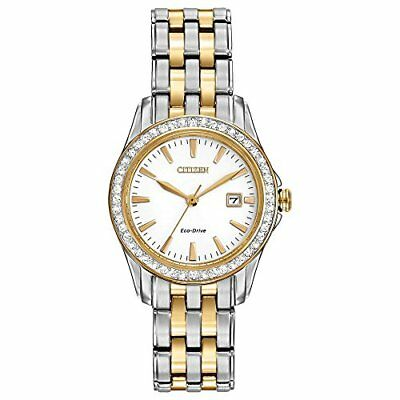 Citizen Womens Eco-Drive Silhouette Crystal watch W/ Date,