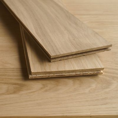 150x15mm Premium Solid Oak Flooring - Unfinished Wood - Square Edge Planks D45P