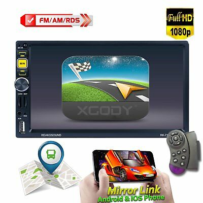 """2 DIN 7"""" Car Stereo Radio MP5 Player HD Touch Screen U-Disk Bluetooth Navigation"""