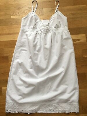 Beautiful Maternity Nightdress 14 -16 White Cotton