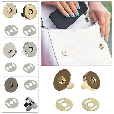 14mm/18mm Magnetic Snap Clasp Fastener Buttons Closures Purse Bag Wallets Craft