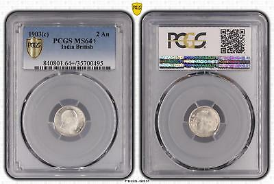 1903c MS64 India British 2 An PCGS GRADED Ch UNC