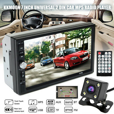 """7"""" Inch 2DIN Car MP5 Player HD Touch Screen Stereo Radio Bluetooth & 4LED Camera"""