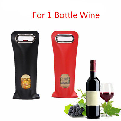 1 Bottle Drink/Wine/Beer Insulated Neoprene Bag Tote Carrier Cooler Gift Case