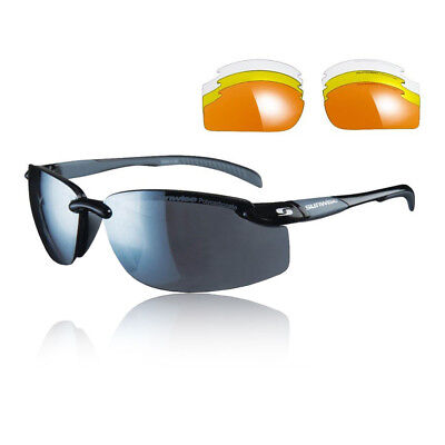 Sunwise Unisex Pacific Interchangeable Sunglasses - Black Sports Running