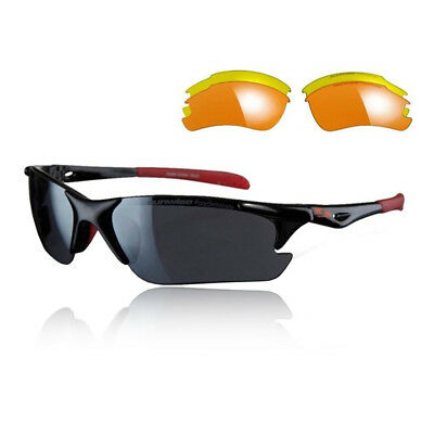 Sunwise Unisex Twister Sunglasses Interchangeable 3 Sets Of Lenses - Black