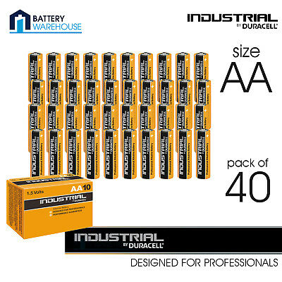 40x Duracell Industrial AA Alkaline Batteries   Replaces Procell MN1500 1.5V LR6