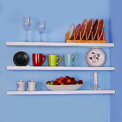 White Clearance 50% Wall Floating Shelves Children toy Storage Shelving Bookcase