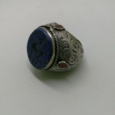 Islamic Rings 925 Sterling Silver Lapis Men Muslim Arabic Bless R79 الإسلامية