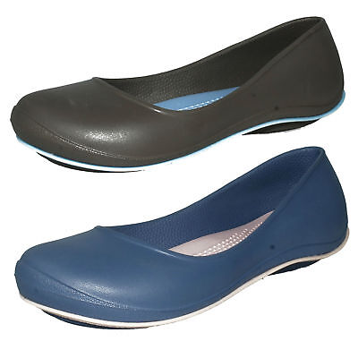 ef8d77c3e £7.99 Ladies Crocs Tone Julia Flat Slip On Ballerina Casual Summer Shoes Uk  3