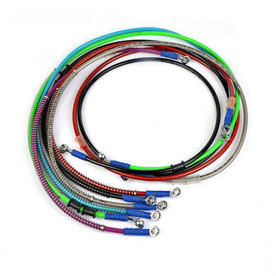 40-210cm Motorcycle AVT Flexible Brake Oil Hose Stainless 10mm Fitting Line Tube