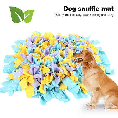 Dog Snuffle Mat Pet Stress Relieving Nosework Training Washable (Mixed Colour)