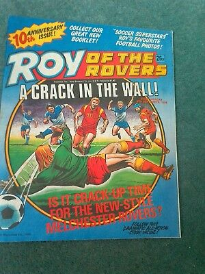 roy of the rovers comics 10th anniversary issue