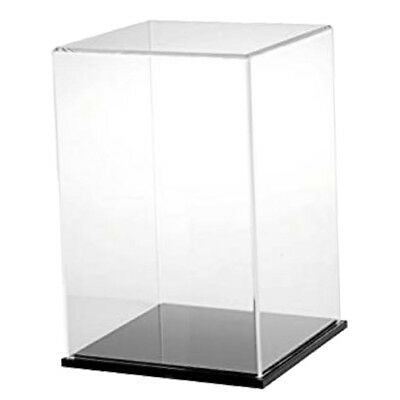 Clear Acrylic Mini Display Case Dustproof Tray Protection for Blocks Toys