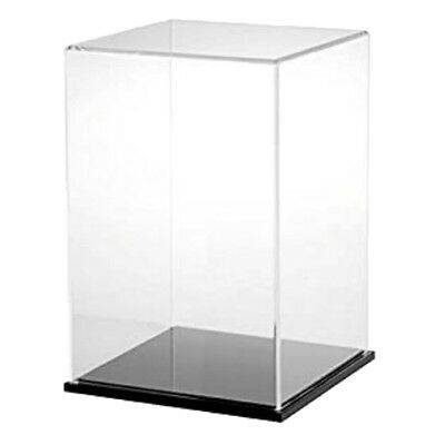 Clear Acrylic Display Case Dustproof Tray Protection for Boys Girl Block Toy