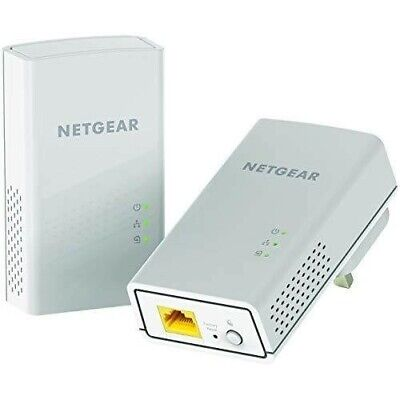 New NETGEAR PL1200S 1200 Mbps Powerline Ethernet Adapter Homeplug Pack of 2