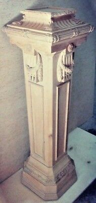 """Antique Egyptian Vintage Hand Carved Wood Stand 4.5"""""""