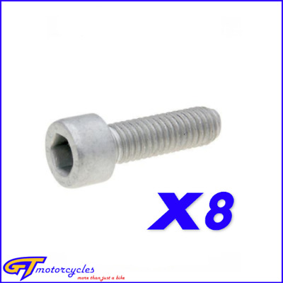 Genuine Aprilia RS 125 2006-2010 M6x20 Engine Hex Socket Screw Set AP8150044 x8