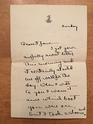 [Jacqueline Kennedy, John F] - Orig 1922 Letter to Jackie's Mother as a Teenager