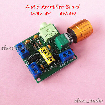 Digital PAM8406 DC3V-5V Class D Dual Channel Stereo Audio Power Amplifier Board
