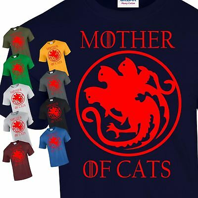 New Mother of Cats Vintage  Present Top Inspired Unisex Top Gift T-Shirt