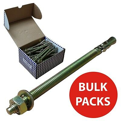 Olympic Fixings Through Bolts M8 M6 M10 M20 Collar Stud Wedge Concrete Anchors