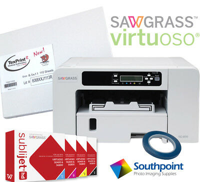 Sawgrass Virtuoso SG400 HD Sublimation System with Free Blanks & Transfer Paper