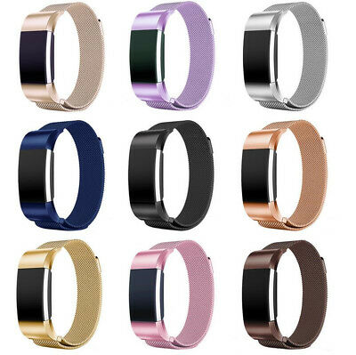 Magnetic Milanese Loop Watch Band stainless Steel Straps For Fitbit charge 2 /HR