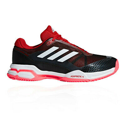 buy online d953c a9e5f adidas Mens Barricade Club Tennis Shoes Black Red Sports Breathable  Lightweight