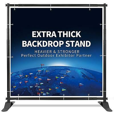 Adjustable Professional Backdrop Banner Stand Extra Thick 8'x10' w Carry Case US