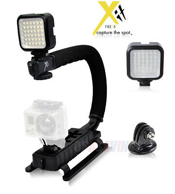 Stabilizing Handle with Portable Mini LED Light for GoPro Hero 3+