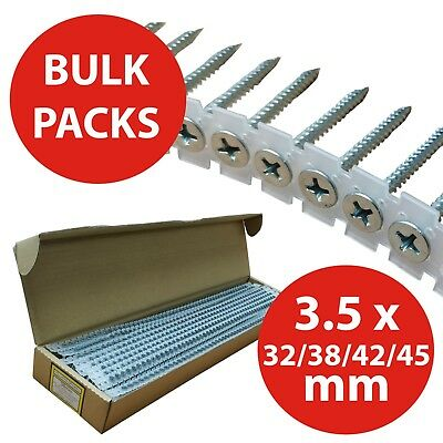 Olympic Fixings Collated Drywall Plasterboard Screws Fine Thread Zinc Plated