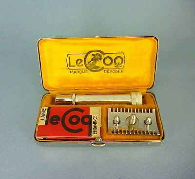 French LE COQ safety razor - open comb - 1930-40s