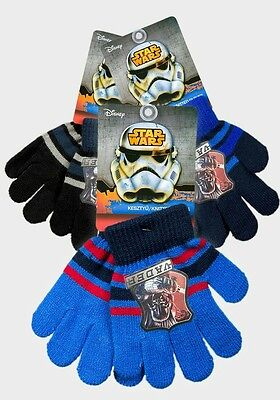 Official   Star Wars children's  Knitted Gloves fits 3-8 years