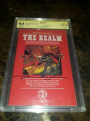 REALM 1 CBCS 9.4 (cgc pgx) signed Jeremy HAUN  Secret variant Dungeons & Dragons