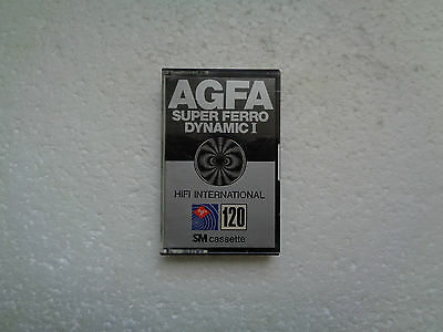 Vintage Audio Cassette AGFA Super Ferro Dynamic 120 * Rare From 1978 * Unsealed