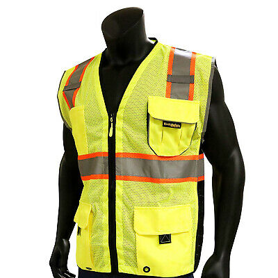 KwikSafety CLASSIC Class 2 Hi Vis Reflective ANSI PPE Surveyor Safety Vest