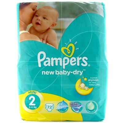 Pampers New Baby Dry - 72 couches Mini - Taille 2