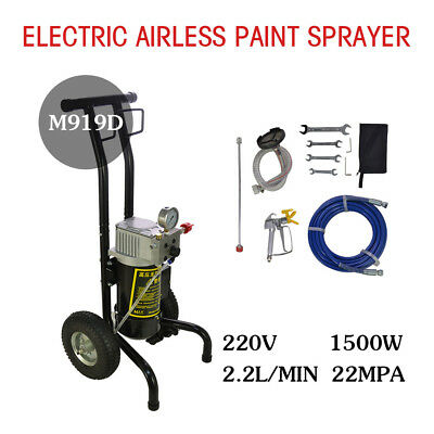 M919D High Pressure Airless Wall Paint Spray Gun Sprayer Spraying Machine 220V