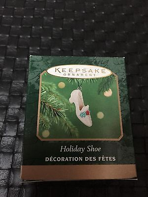 Holiday Shoe Hallmark Keepsake Miniature Ornament