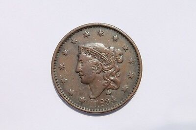 1834 Large Cent Large 8, Small Stars  #LC903