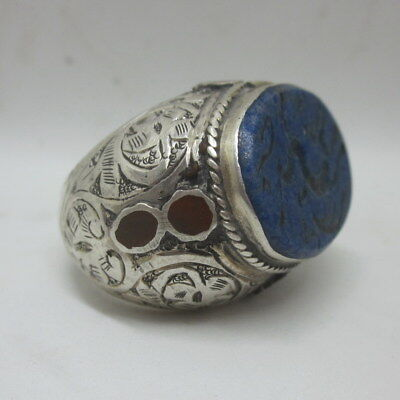 Islamic Rings 925 Sterling Silver Lapis Men's Jewelry خواتم فضية  مبارك الإسلام